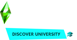 The Sims 4: Discover University logo