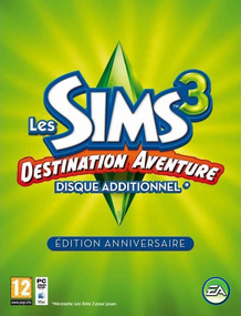 The Sims 3: World Adventures Commemorative Edition packshot box art