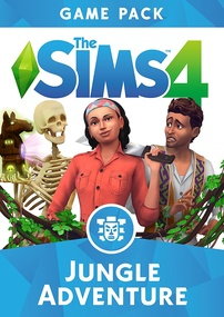 The Sims 4: Jungle Adventure packshot box art