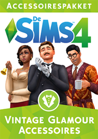 De Sims 4: Vintage Glamour Accessoires packshot box art