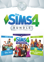 The Sims 4 Bundle: Get Together, Spa Day, Movie Hangout Stuff packshot box art