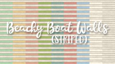 SNW Beachy Boat Striped Siding Walls