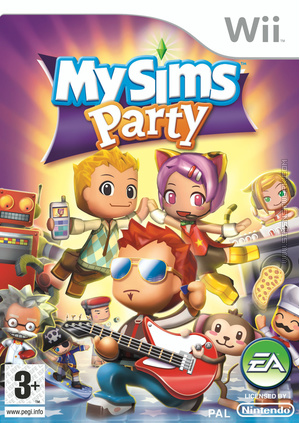 MySims Party Wii box art packshot