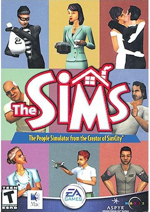 The Sims for Mac box art packshot