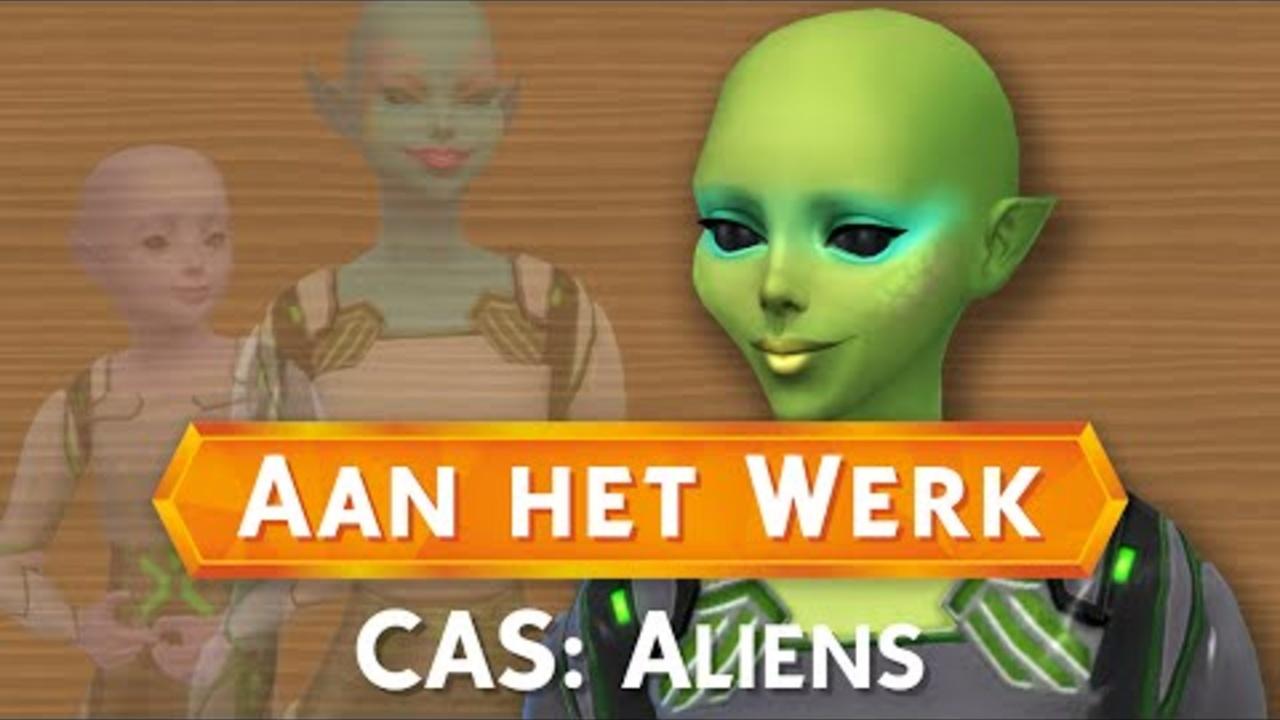 Sims 4: Aan het Werk - CAS: Aliens